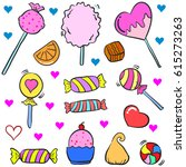 collection stock of candy... | Shutterstock .eps vector #615273263
