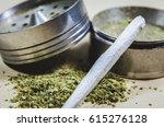 smoking marijuana joint | Shutterstock . vector #615276128