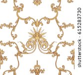 seamless pattern with richly... | Shutterstock .eps vector #615283730