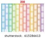 2018 calendar. print template.... | Shutterstock .eps vector #615286613