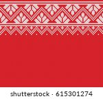 norway festive sweater fairisle ... | Shutterstock .eps vector #615301274