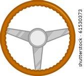 classic car steering wheel | Shutterstock .eps vector #61530373