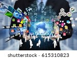 businessman showing the concept ... | Shutterstock . vector #615310823