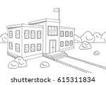 school building graphic black... | Shutterstock .eps vector #615311834