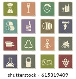vineyard vector icons for user... | Shutterstock .eps vector #615319409