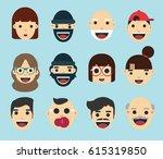 flat avatar collection | Shutterstock .eps vector #615319850