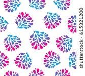 watercolor rainbow flowers...   Shutterstock .eps vector #615321200