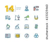 science   colored vector modern ... | Shutterstock .eps vector #615325460