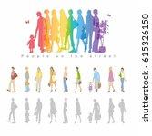 people on the street. vector... | Shutterstock .eps vector #615326150