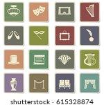 theater vector icons for user... | Shutterstock .eps vector #615328874