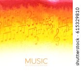 abstract colorful music... | Shutterstock .eps vector #615329810