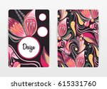 cover design with floral... | Shutterstock .eps vector #615331760