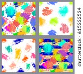 vector set of seamless patterns ... | Shutterstock .eps vector #615332534