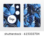 cover design with floral... | Shutterstock .eps vector #615333704