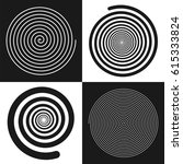 spirals set  uniform and... | Shutterstock .eps vector #615333824