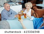 four cheerful elderly people... | Shutterstock . vector #615336548