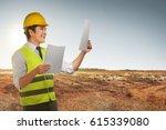 portrait of asian worker man... | Shutterstock . vector #615339080