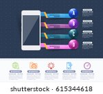 multicolored glossy arrows... | Shutterstock .eps vector #615344618