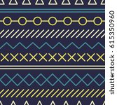 simple pattern with geometrical ... | Shutterstock .eps vector #615350960