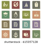 job search vector icons for... | Shutterstock .eps vector #615357128
