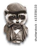 Portrait Of Raccoon  Artwork ...