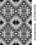 seamless black and white ethnic ... | Shutterstock .eps vector #615361433