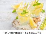 cold refreshing summer drink... | Shutterstock . vector #615361748