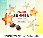 new summer collection sale... | Shutterstock .eps vector #615362636
