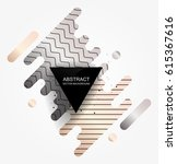 background with abstract shapes.... | Shutterstock .eps vector #615367616