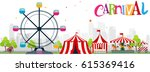 funfair and carnival background  | Shutterstock . vector #615369416