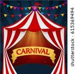 happy carnival background  | Shutterstock .eps vector #615369494