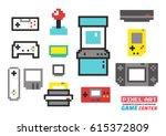 game center pixel art  ... | Shutterstock .eps vector #615372809