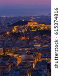 Cityscape Of Athens With...