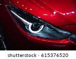 headlight of a modern luxury...   Shutterstock . vector #615376520