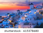 Lights Of Oia Village At Night  ...