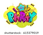 "cartoon inscription ""party"".... 