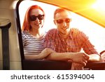 young people buy a new car  | Shutterstock . vector #615394004