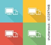 responsive design flat icon... | Shutterstock .eps vector #615397448