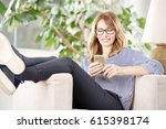 shot of a middle aged woman... | Shutterstock . vector #615398174