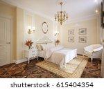 luxury classic modern bedroom...   Shutterstock . vector #615404354