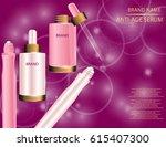 glamorous set of collagen... | Shutterstock .eps vector #615407300