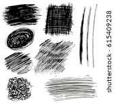 set of pen textures | Shutterstock .eps vector #615409238