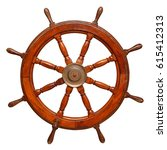 vintage ships wheel made of... | Shutterstock . vector #615412313
