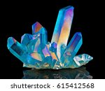 amazing colorful quartz rainbow ... | Shutterstock . vector #615412568