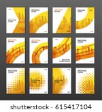 brochure cover design layout... | Shutterstock .eps vector #615417104