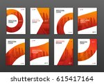 brochure cover design layout... | Shutterstock .eps vector #615417164