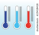 thermometer icon. | Shutterstock .eps vector #615418418