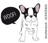 cute dog. dog t shirt graphics. ... | Shutterstock .eps vector #615425603