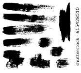set of brush strokes | Shutterstock .eps vector #615428510