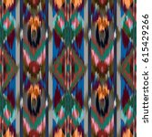 abstract ethnic ikat pattern... | Shutterstock . vector #615429266
